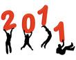4 personnes portant 2011