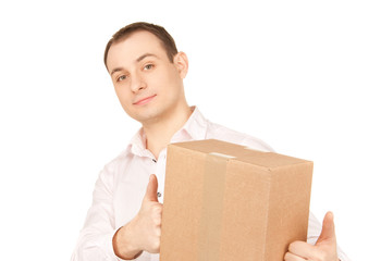businessman with parcel