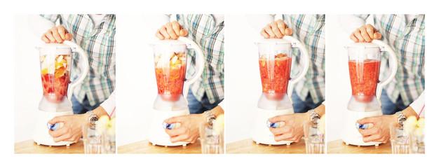 Erdbeer Smoothie Zubereitung