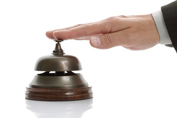 Ringing hotel reception bell