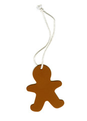 gingerbread man cookie  tag  with string