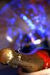 schampagne con luci blu
