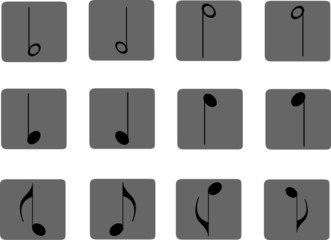 Icon. Music notes
