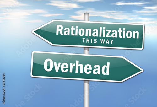 "Signpost ""Rationalization vs. Overhead"""