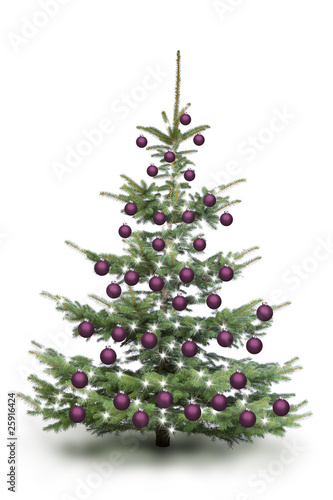 weihnachtsbaum mit violetten kugeln stockfotos und lizenzfreie bilder auf bild. Black Bedroom Furniture Sets. Home Design Ideas