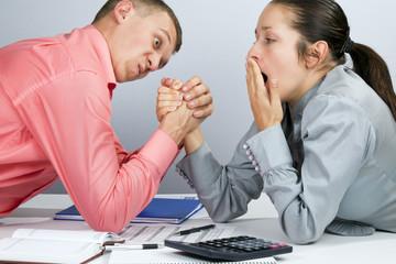 office wrestling
