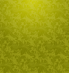 Green Seamless pattern wallpaper