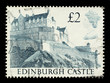 English Postage Stamp showing Edinburgh Castle