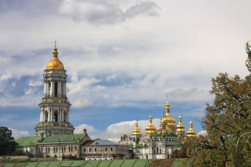 View on Kievo-Pecherska Lavra, Kiev, Ukraine.