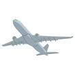 fully editable vector illustration airliner