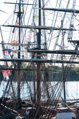 Sailing ship's rigging