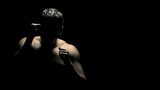 Boxer Spars in Shadows
