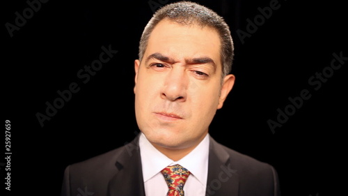 Angry businessman grimacing - Emotion - Stress