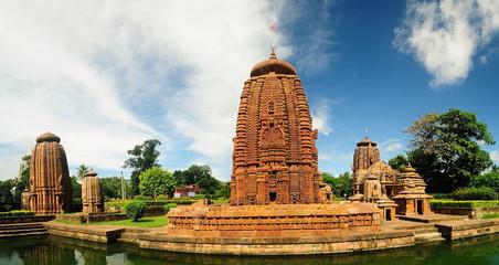 Ancient Hindu temples Mukteshwar and Siddheswar in Orissa, India