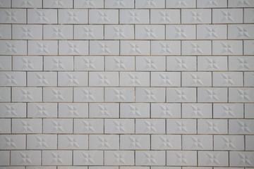 white tile wall
