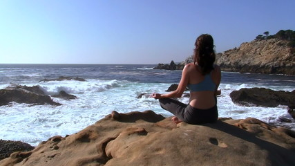 Yoga in seascape - HD