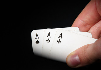 Aces in a hand