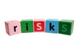 risks in toy play blocks with clipping path