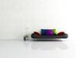 minimalist white interior with fashion couch