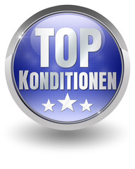 Top konditionen button blau