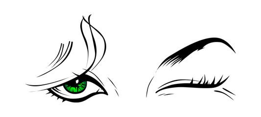 girl eye wink