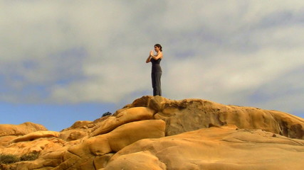 Yoga meditation on rock - HD