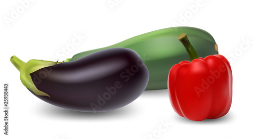 Set of vegetables. Vector illustration.