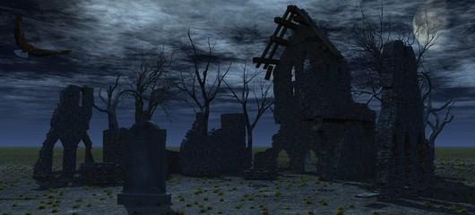 Mondnacht auf dem Friedhof