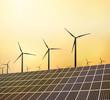 Erneuerbare Energien in der Abendsonne