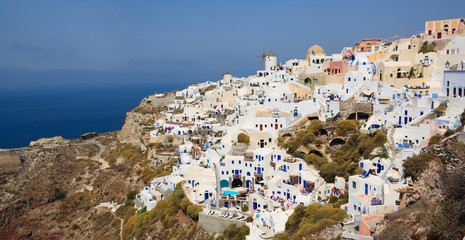 Panorama of Oia village in Santorini