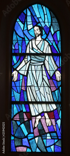 Transfiguration of Jesus, stained glass