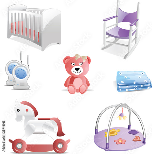 Baby Nursery Icon Set