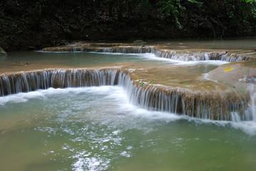 Waterfall Erawan, in Kanchanabury, Thailand