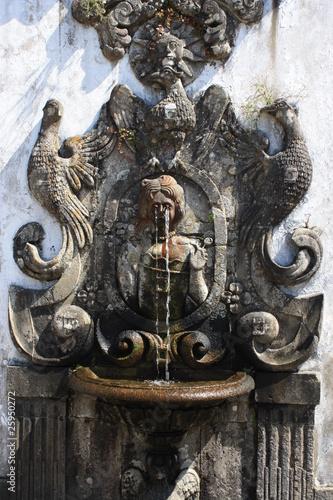 Leinwanddruck Bild Fountain of five senses - Bom Jesus do Monte