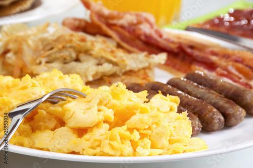 Leinwanddruck Bild Hearty Breakfast