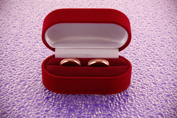 Wedding ring in red box