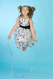 Little girl with jumping rope