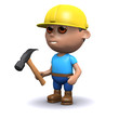 3d Builder with hammer