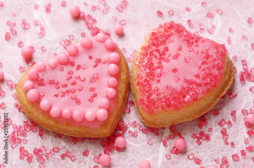 Colorful decorated cookies, close up