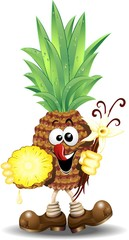 Ananas Cartoon-Pineapple-Vector