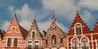 Mittelalterliche Stadt-Architektur in Brugge / Belgien