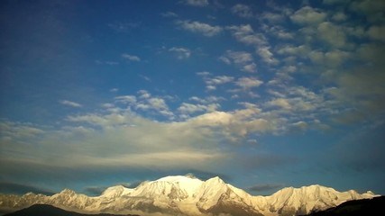 Il monte bianco visto dal versante francese