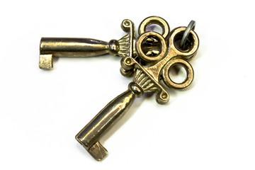 Zwei alte Schlüssel - Messing