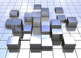 Fototapety Abstract metal cubes
