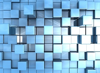abstract background of 3d cubes © Jezper