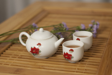 Chinese tea and teacup
