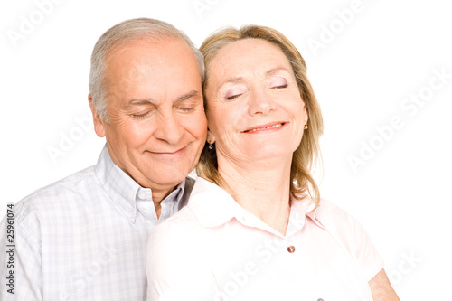 Romantic seniors couple