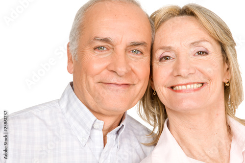 Happy pensioners couple