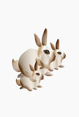 Abstract bunny rabbits