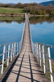 Bridge over a lake in Garaio, Basque Country